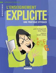 couverture enseignement explicite